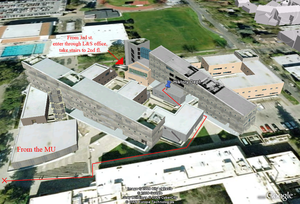 Map to Advising Offices for Economics and History Departments in Social Sciences and Humanities Building